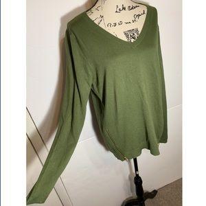 Market & Spruce Zip Side Pullover Sweater